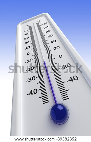 thermometer,  cold - stock photo