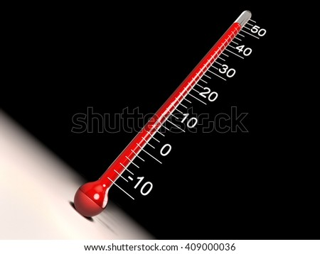 Thermometer 3D illustration - stock photo