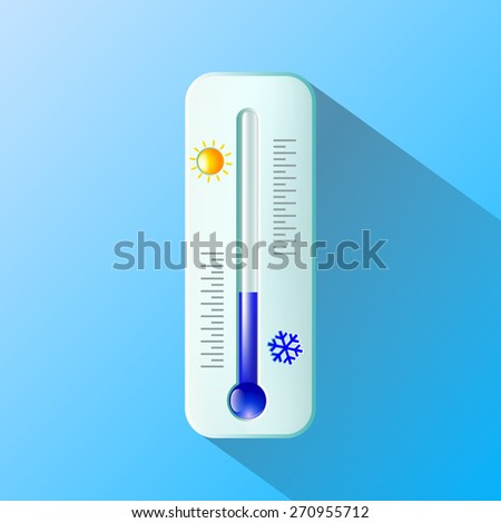 thermometer. Flat design - stock photo