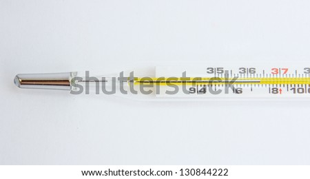 Thermometer for the purpose of maintaining the temperature. - stock photo