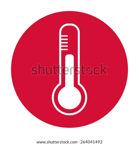 Thermometer icon. - stock photo
