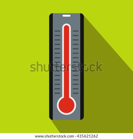 Thermometer icon in flat style