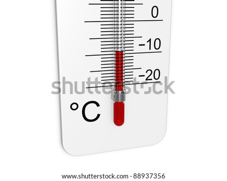 Thermometer indicates low temperature - stock photo