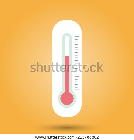 Outdoor Thermometer Icons Hot Cold Temperature Stock Vector