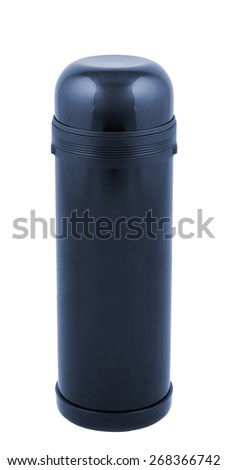 thermos isolated on white - stock photo
