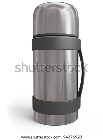 thermos isolated on white background. 3d rendered image