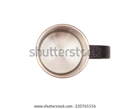 Thermos Travel Mug on white background  - stock photo