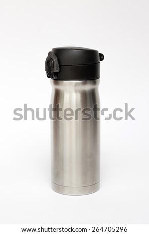 Thermos travel tumbler - stock photo