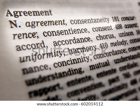 Thesaurus Page Showing Definition Word Difference Stock Photo