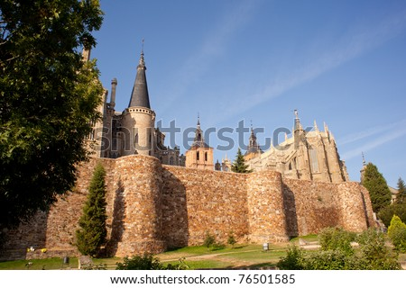 These Roman walls and Episcopal Palace of Astorga