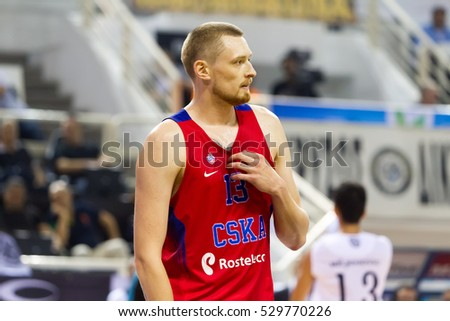 Thessaloniki, Greece - September 8, 2016: Ivan Lazarev of CSKA in action during the friendly match PAOK vs CSKA Moscow