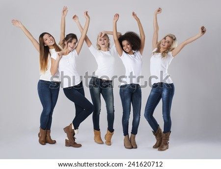 They are happy with their femininity  - stock photo