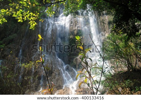 Thi Lo Su Waterfall, Umphang District, Tak Province, Thailand