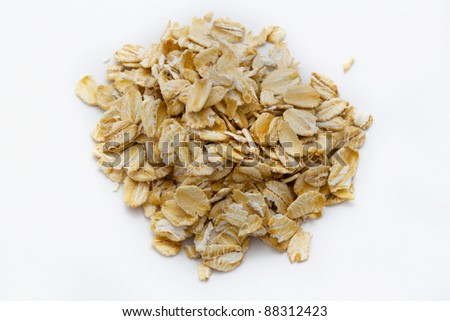 thick oatmeal - stock photo