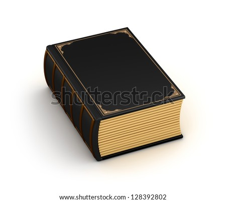 Thick old book - stock photo