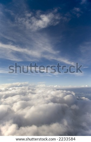Thick portrait clouds - stock photo