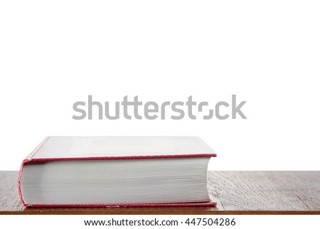 Thick red book - stock photo