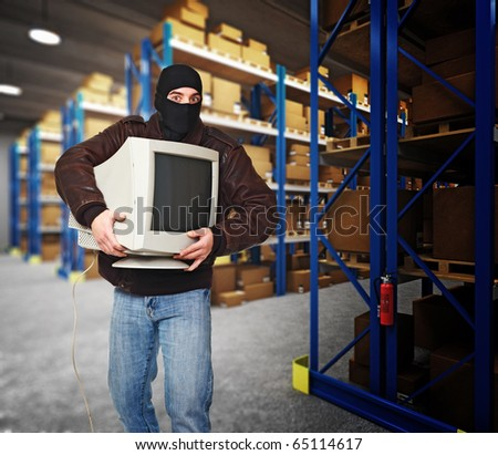 thief in action classic warehouse 3d background