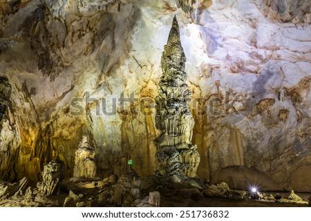 Thien Duong Cave (Paradise Cave) in Phong Nha-Ke Bang National Park, Vietnam - stock photo