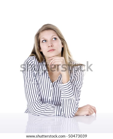 Think about it - stock photo