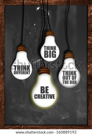 Think big , be creative - stock photo