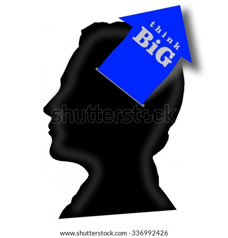 Think big concept - stock photo