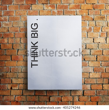 Think Big Creative Imagination Strategy Visionary Concept - stock photo