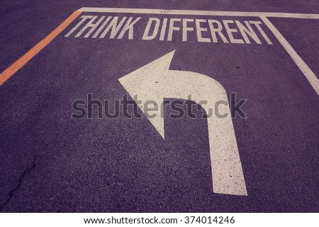 Think difference word on street
