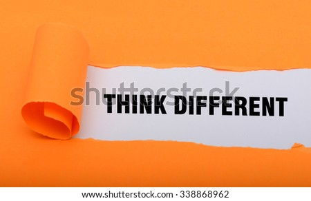 Think Different word paper fold concept graphics - stock photo