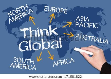 Think Global - stock photo