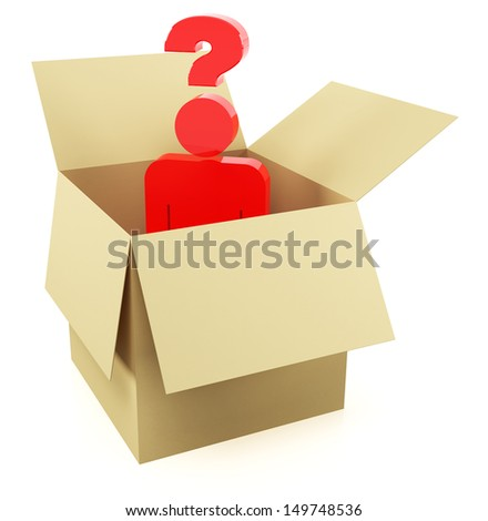 Think out of the box - stock photo