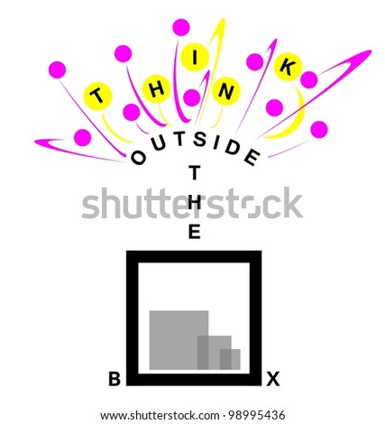 think outside the box for creative solutions - stock photo