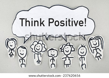 Think Positive Concept - stock photo