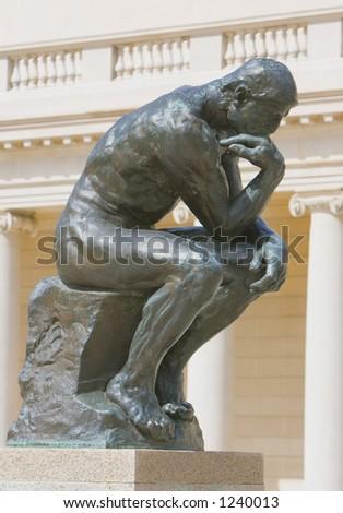 thinker - stock photo