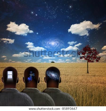 Thinkers - stock photo