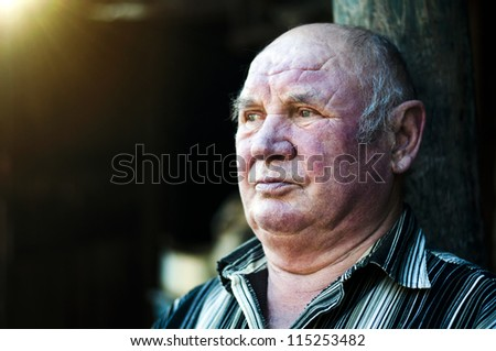 thinking about life - stock photo