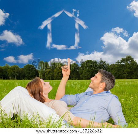 thinking for new home - stock photo