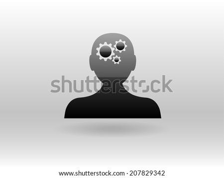 Thinking icon - stock photo
