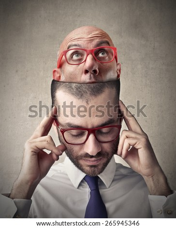 Thinking of someone  - stock photo