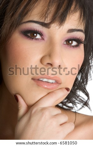 Thinking Woman - stock photo