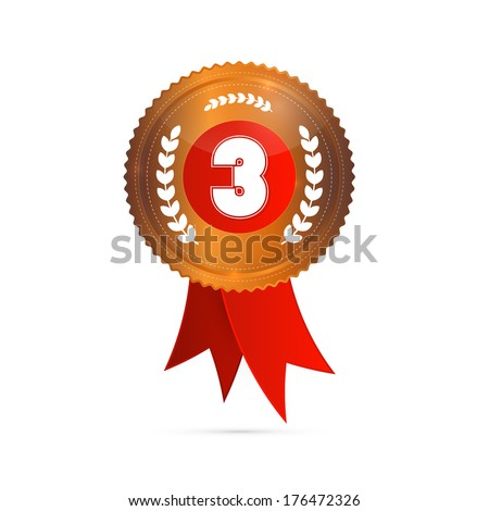 Third Place, Bronze Medal - stock photo