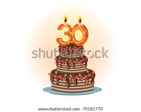 thirtieth,pie - stock photo