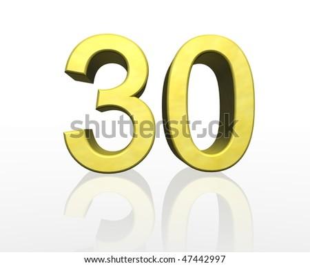 thirty - stock photo