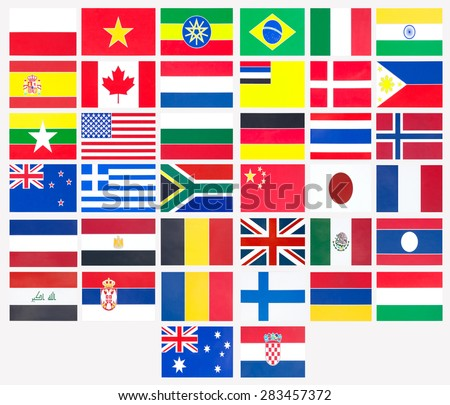 Thirty-eight countries flag national symbol.