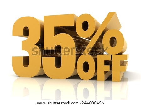 thirty five percent off sale