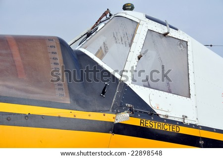 This crop duster is a workhorse in the agricultural community - stock photo