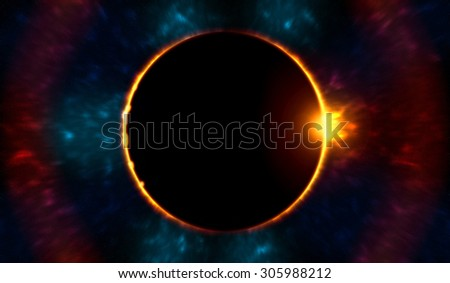 this Eclipse have been done inside photoshop to make this background  - stock photo