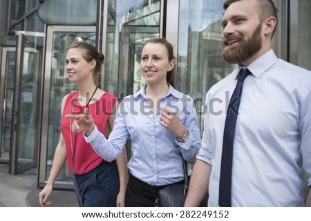 This group are ready for next business meeting  - stock photo
