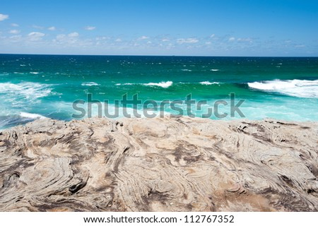 This image shows Bondi Beach in Sydney, Australia - stock photo