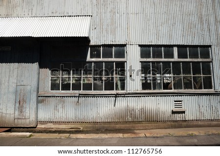 This image shows the industrial buildings on Cockatoo Island,  Sydney, Australia. - stock photo